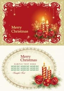 vetor livre cartões de Natal bonitos