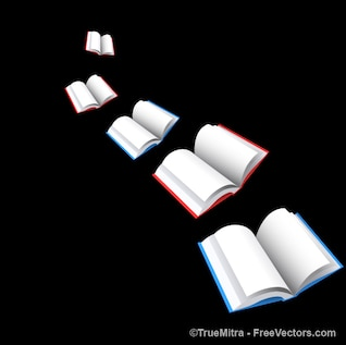 Livros coloridos preto vetores fundo