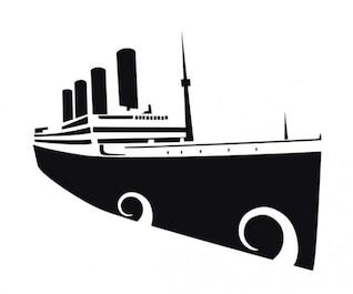 Silhueta do navio transatlântico
