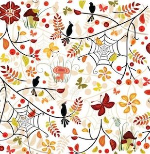 Sem emenda do outono padrão ilustrador vetorial