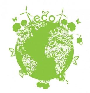 Planeta verde ecológico com plantas no fundo branco