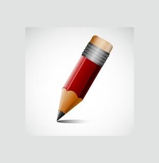 Lápis escrita curta com vetor borracha gráfico