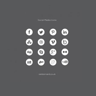 Ícones de mídia social definido vetor pacote