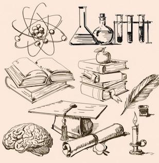 Esboços da ciência vetor