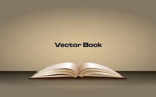 3d elegante abriu livro vetor