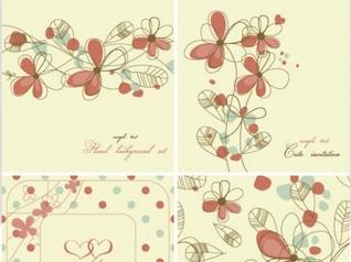 Elegante floral fundo padrão definido