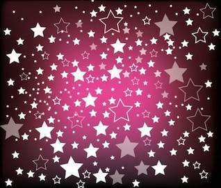 Chuva de estrelas sobre fundo roxo