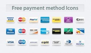 ícones método de pagamento