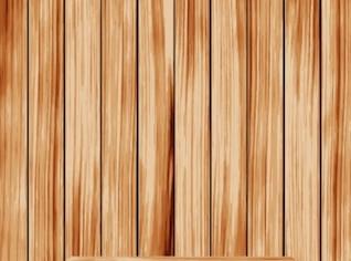 Prateleira de madeira no fundo de madeira vertycal