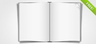 Livro aberto PSD Graphic