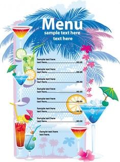 verão vetor menu de bebidas