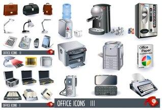 escritório de negócios de material vetor ícone