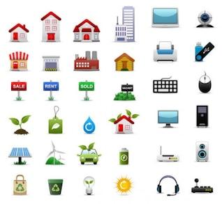 conjuntos de ícone material de vector