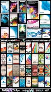 nd variedade de cartões bonitos enfrentar clip art