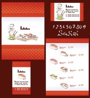 Japanese Cuisine ilustrador vector