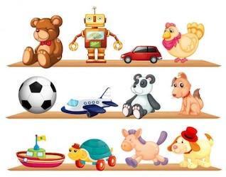 brinquedos bonitos para crianças vetor