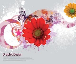 elementos de design coreano psd material em camadas no yi