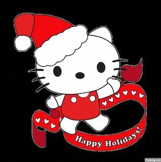 Olá Kitty com chapéu de Santa