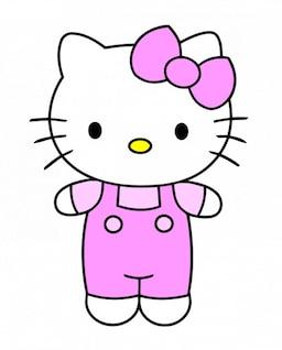 Olá Kitty com vestido roxo