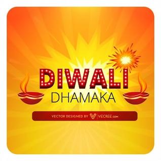 Festival indiano com fogos de artifício