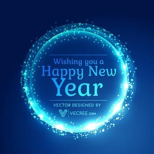 Neon celebração novo fundo ano