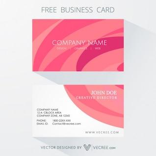 Marcando o cartão na cor rosa