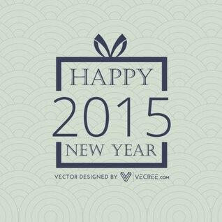 2015 ano novo na caixa de presente