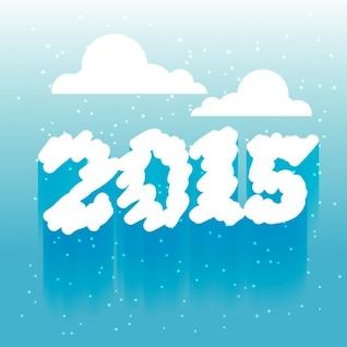 Nublado novo ano de 2015 de fundo