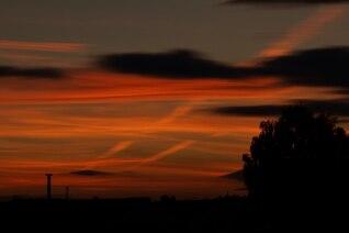 Borradas nuvens flamejantes