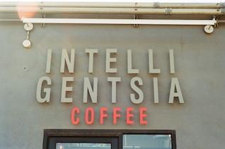 Café sinal entrada da loja