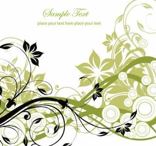 livre gráfico vetorial e, flores e redemoinhos