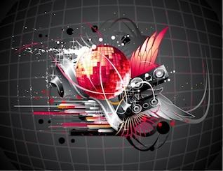 música disco ilustração vetorial fundo