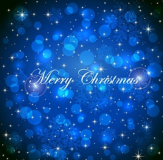 Natal brilhante azul