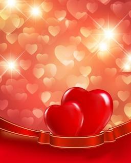 Vetor fundo dos corações vermelhos
