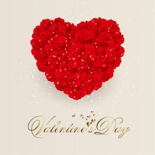 Subiu coração flores. valentine