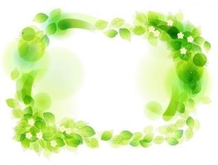 ilustração vetorial verde floral