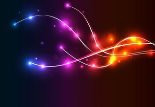 neon fundo vetor de onda