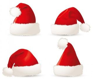 livre vermelho Natal, Santa chapéus