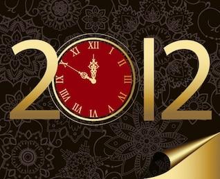 ano novo com o relógio