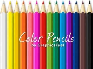 lápis de cor psd pacote