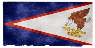 Samoa Americana grunge bandeira
