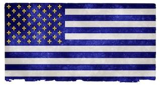 EUA fleurs de lys grunge bandeira