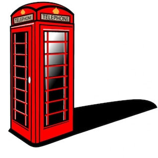 Cabine de telefone vermelha de Londres