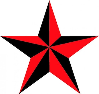 Estrela náutica de cinco pontos