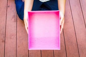 A caixa de presente