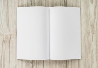 Abra o caderno com páginas em branco