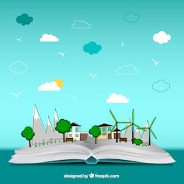 Abra o livro de ambiente