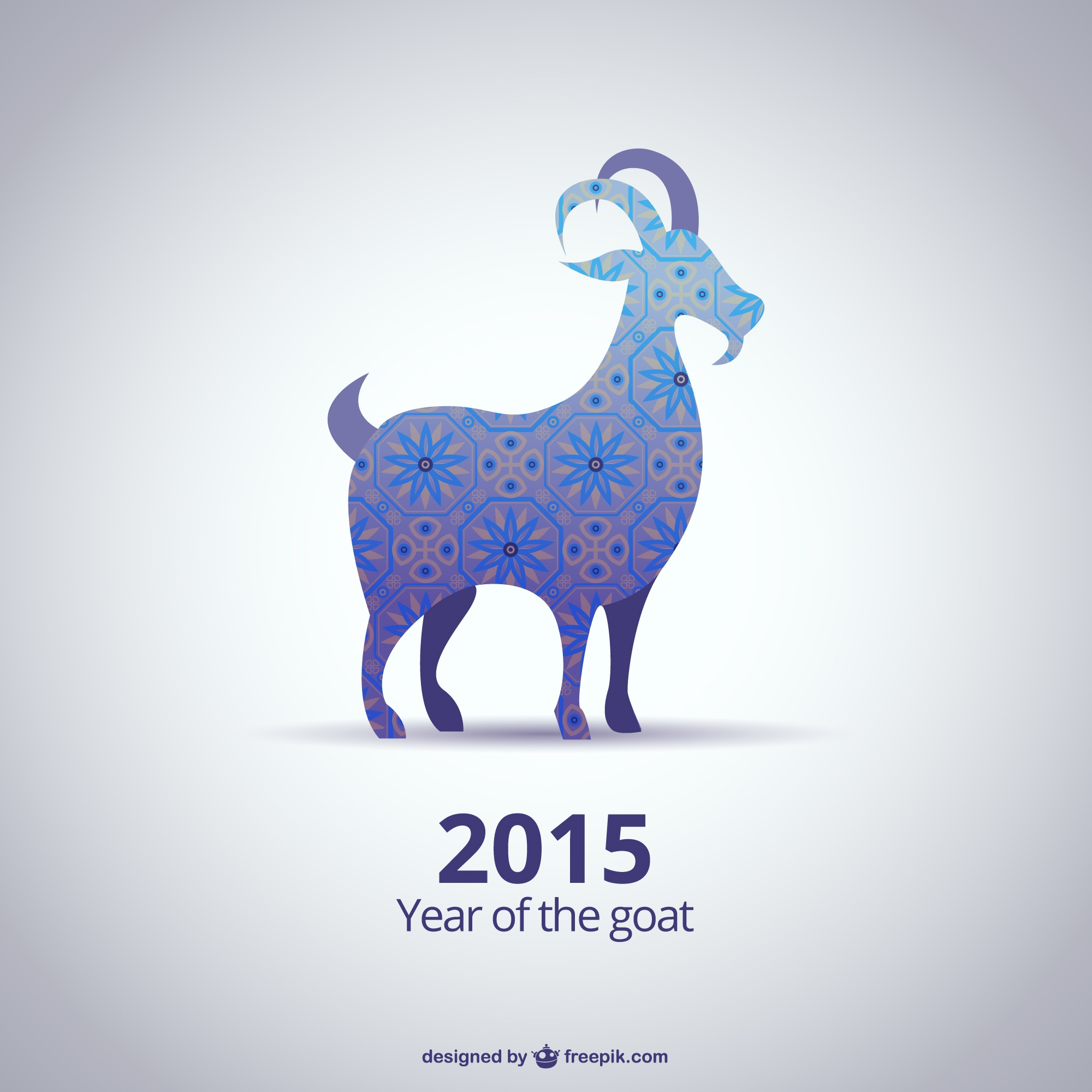 Abstract 2015 Ano do vector Goat