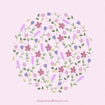Abstrato do círculo feito de flores