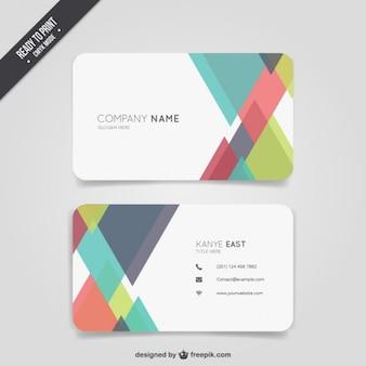 Abstract cor cartão de visita